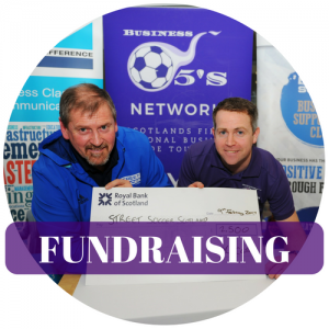 Glasgow Corporate Football Fundraising Graphic