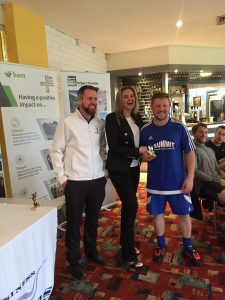 Liverpool Charity Football Event top goalscorer Anthony Hewitson