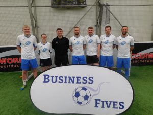 Business Fives Tayside Event EQ Accountants team with player of the match Jodie Ovens