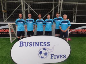 Business Fives Tayside Event Top Fundraisers Pacson Valves Team