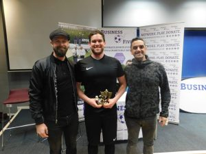 Award Picture at Business Fives debut in Bristol