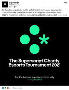 Superscript Charity Esports